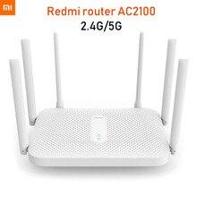 Xiaomi Redmi AC2100 Router Gigabit 2.4G 5.0GHz dwuzakresowy Router bezprzewodowy 2033 mb/s Wifi Repeater z 6 antenami o wysokim zysku szerszy