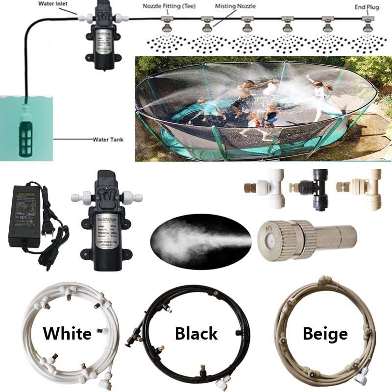 Garden Water Spray Nozzle Ectric Pump  Misting Spray System Nebulizer For Flowers Plant Greenhouse Garden Irrigation 6M-18M
