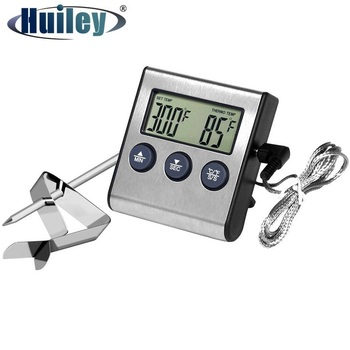 digital instant read voice broadcast food bbq cooking thermometer with lcd backlit display foldable probe for steak milk water m Digital Cooking Thermometer Timer LCD Kitchen BBQ MEat Food Cooking Household Probe Water Milk Temperature Oven Grill Tools