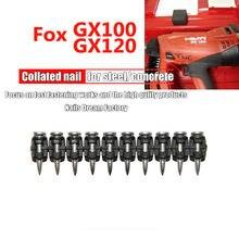 Gx100 gx 120 pregos de gás para ferramentas manuais 1000 pces pregos de aço para placa de cimento aço al-liga para uso de decoração de casa