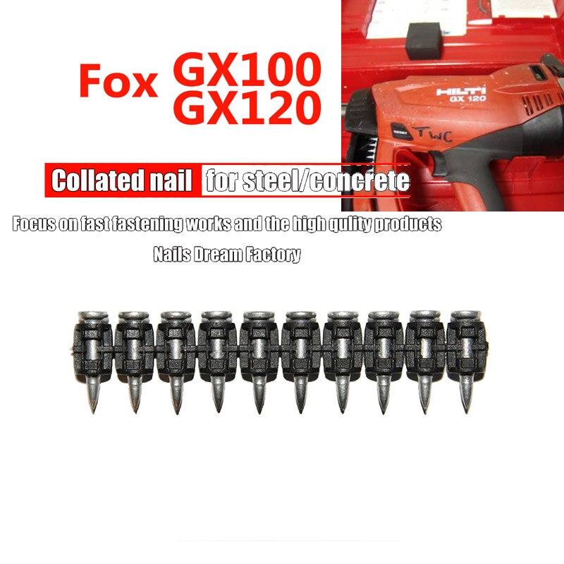 GX100 GX 120 газовые гвозди для ручных инструментов, стальные гвозди для цементной доски, стальной сплав для украшения дома