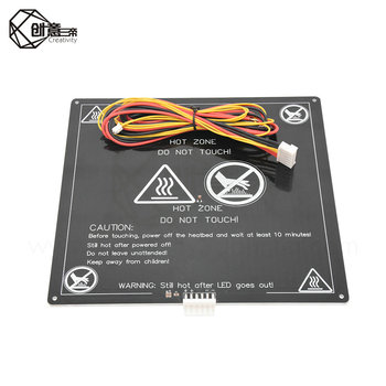 MK3 Heated Bed 12V/24V Parts For Reprap Mendel Hot Bed 3D Printers Part 214*214/220*220 Aluminium Plate 3mm 3D Printer H