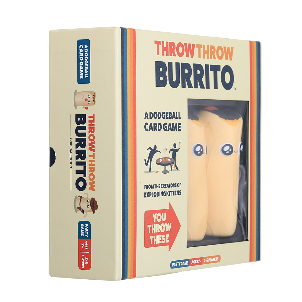 Board Game Throw Throw Burrito Card Game Card Game Kickstarter Game Dodgeball Card Family Party Reducing Pressure Bard Game