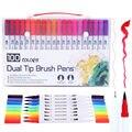 MKB doppel-kopf aquarell stift  12-farbe 60-farbe 100-farbe doppel-pinsel kunst marker stift  spezielle für büro lernen.