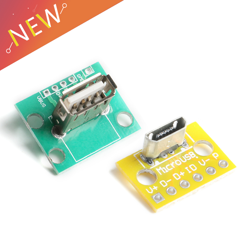 Вертикальный USB кабель MiCroUSB Micro USB 2,0 Женский манекен головы разъем 2,54 мм PCB конвертер адаптер коммутационная плата 180 градусов по вертикали