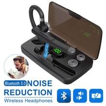 Bluetooth 5.0 Earphone Ear hook YYK 520 Business Headphones Wireless Car Bluetooth Headset Stereo Handsfree with Mic for Driving