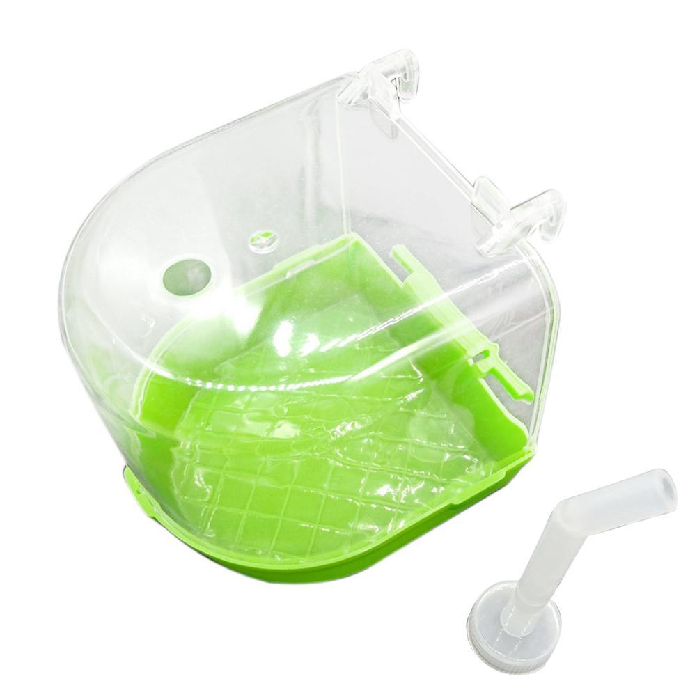 1 шт. пластиковая коробка для ванны с птицами для ванны для попугая для попугаев Lovebird Finch клетка для домашних животных подвесная миска Parakeet Birdbath - Цвет: Light Green