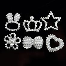 10 шт Имитация жемчуга Корона любовь бант ожерелье ручной работы