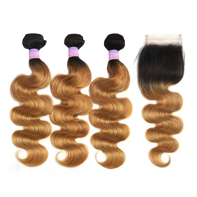 T1b 30 pacotes de cabelo humano marrom