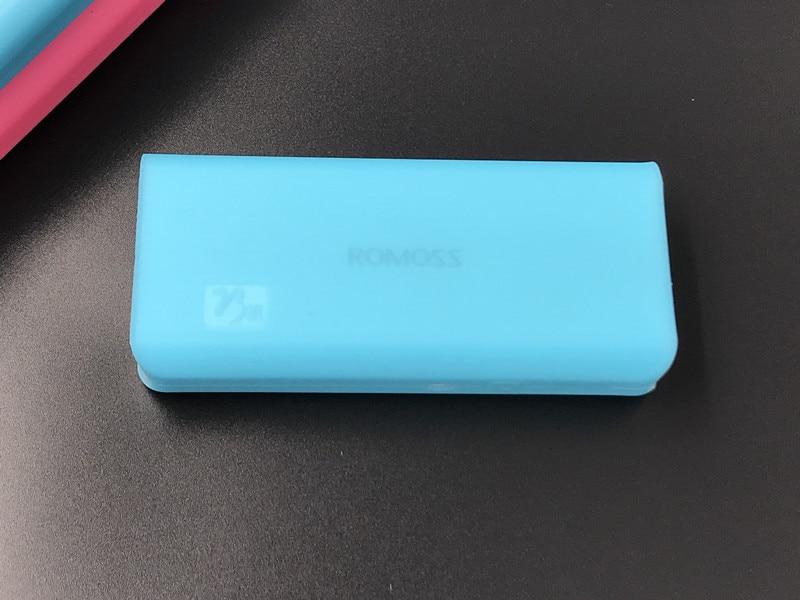 Портативный нетоксичный силиконовый мягкий защитный чехол для ROMOSS 20000mAh ROMOSS 10400mAh power DurableBank - Цвет: blue