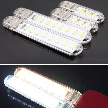 Mini USB LED Light Portable 3/8 LEDs Night Light Table Lamp Warm White Light LED Lamp For Power Bank PC Laptop Bulb