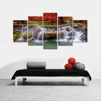 5 Panels Landscape Pictures Canvas Painting Landscape Poster Walling Seascape Painting Wall Art Pictures for Bedroom Home Decor