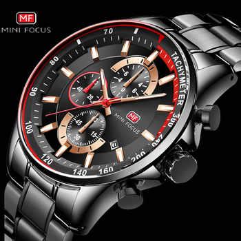 Top Brand Luxury Blue Quartz Watch Men MINI FOCUS Multifunction Chronograph Sport Fashion Wristwatch Waterproof 2019 Hot Clock - DISCOUNT ITEM  90 OFF Watches