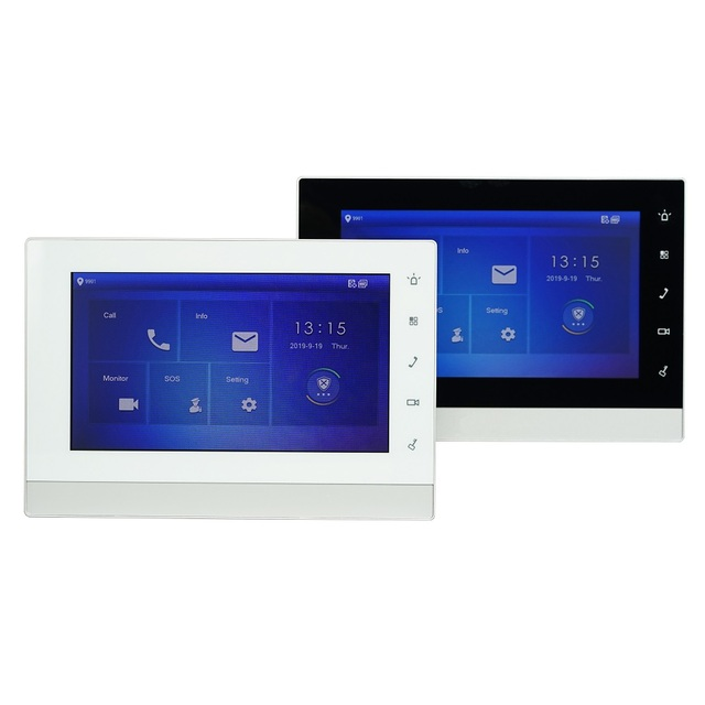 DH Multi Language VTH1550CHW 2 S1 2 wire Indoor Monitor,IP doorbell monitor,Video Intercom monitor,wired doorbell monitor