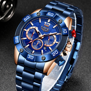 LIGE 2020 New Fashion Mens Watches Top Brand Luxury Clock Sports Chronograph Waterproof Quartz Watch For Men Relogio Masculino(China)