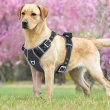 Large Dog Harness Vest with Handle Pull Pet Safety Strong Seat Belt Trip Reflective Breathable for Dogs