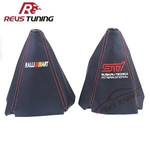Universal vermelho costura pvc ralliart nismo manual do carro botão de engrenagem de mudança de engrenagem bota colar capa