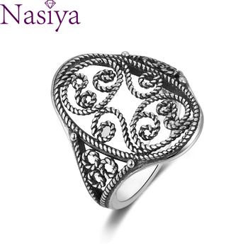 цена Vintage Hollow Carving Ring for Women Wedding Ring Engagement Ring for Anniversary Party Gift Female Jewelry онлайн в 2017 году