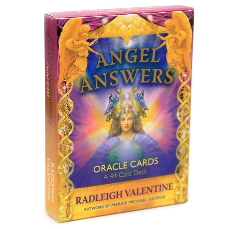 Бесплатная доставка Angel Answers Таро 44 Oracle карты колода Полный английский таинственный гадание семья друг вечерние настольные игры