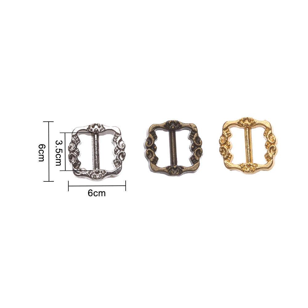 6*6mm Mini Ultra-petit Tri-glisse modèle ceinture boucle poupée sacs boucle bricolage poupée boutons chaussures vêtements couture accessoires