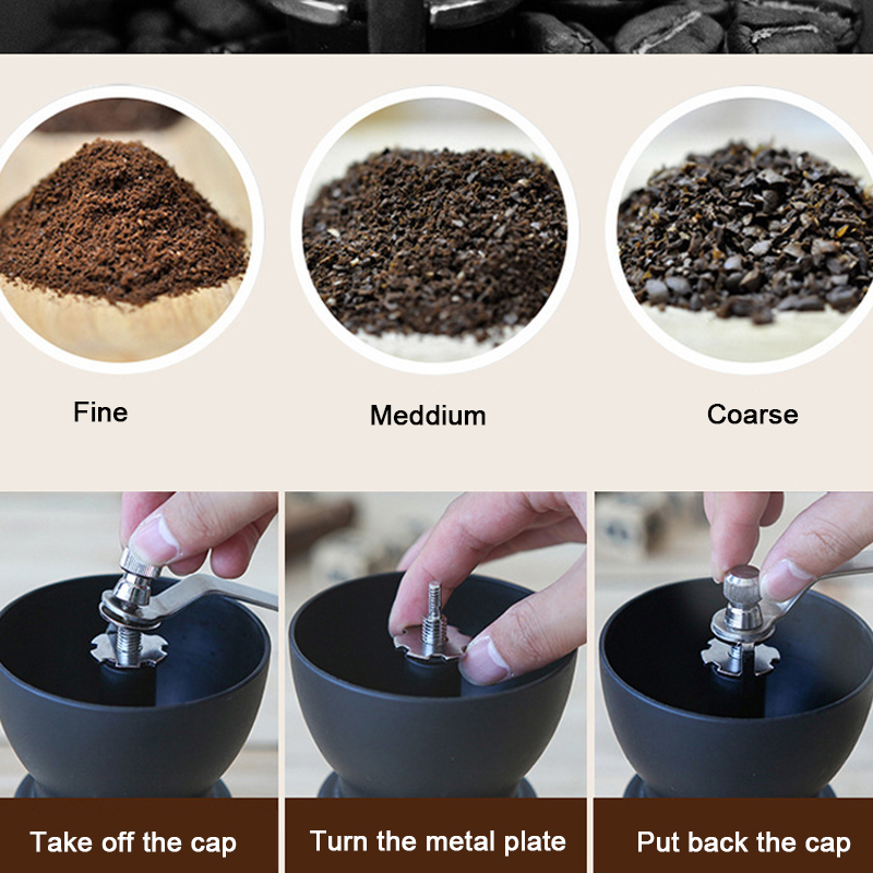 Manual Ceramic Burr Conical Coffee Grinder with Two Glass Storage Jars Portable Coffee Mill Espresso Grinder Coffee Bean Tools in Electric Coffee Grinders from Home Appliances