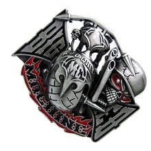 Ghost Skull Head Pattern Zinc Alloy Cowboy Western Belt Buckle Men's Gift