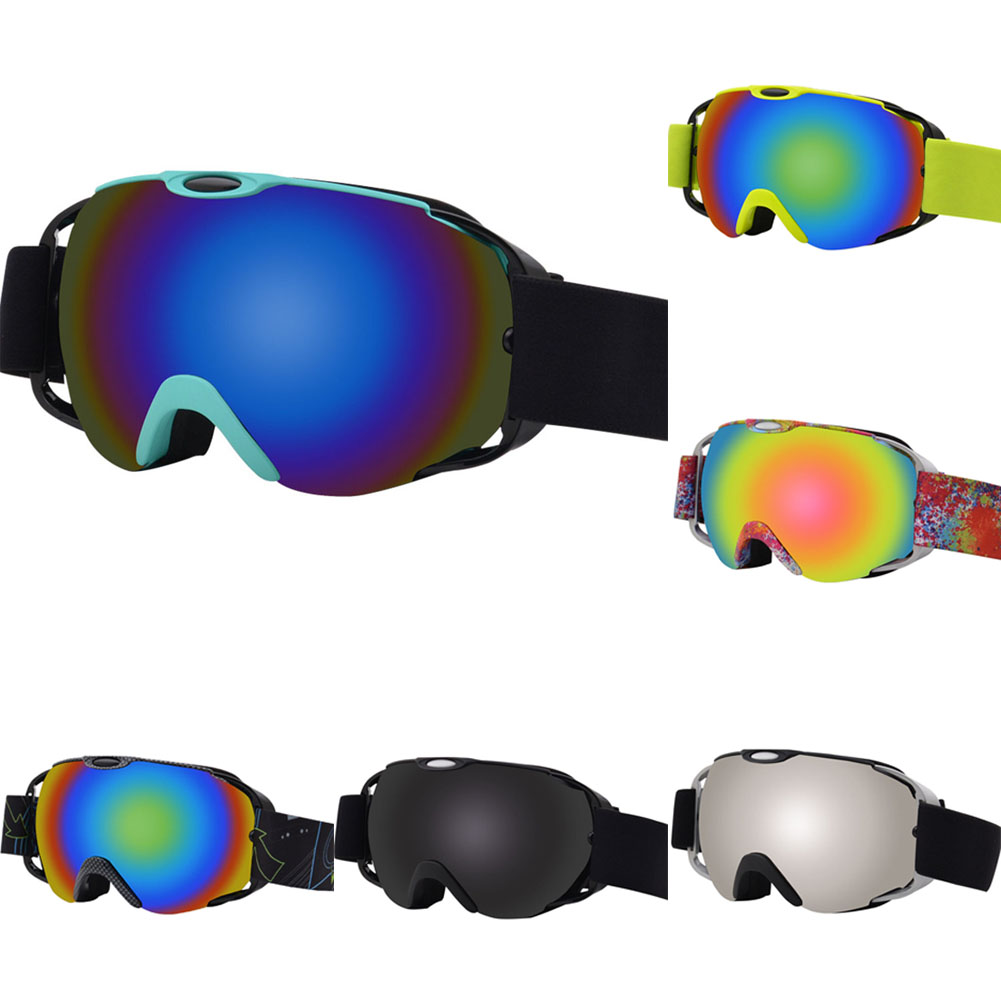New Ski Snowboard Goggles Windproof Sand Control Anti-Fog UV Protection Spherical Dual Lens Snow Goggles With Adjustable Strap