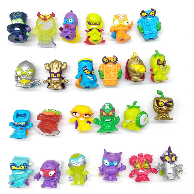 Superzings Series 1 2 3 Garbage Doll Rubber Cartoon Anime Action Figures Toy Collection Model Rubber Toy Random