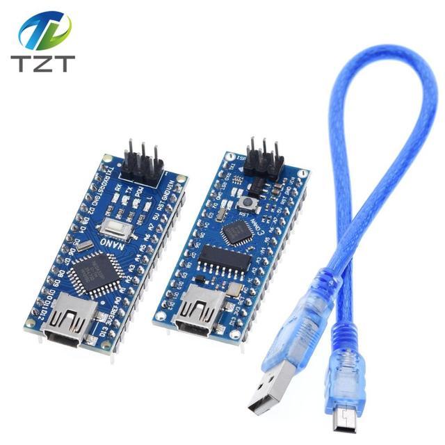 ננו מיני USB עם מנהל האתחול תואם לarduino Nano 3.0 בקר CH340 USB נהג 16Mhz ננו v3.0 ATMEGA328P