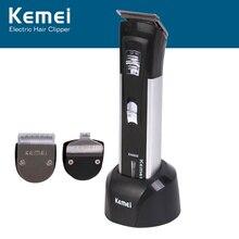 Kemei KM-3006 машинка для стрижки волос 3-в-1 с бритье слово режущая головка многофункциональные ножницы для волос электрическая машинка для стрижки волос