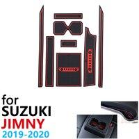 Anti Slip Gummi Tasse Kissen Tür Nut Matte für Suzuki Jimny JB64 JB74 Jimny Sierra 2019 2020 Auto Zubehör matte für telefon-in Autoaufkleber aus Kraftfahrzeuge und Motorräder bei