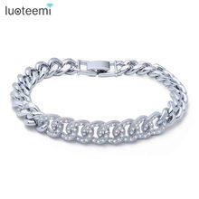 Luoteemi novo charme pulseira micro pavimentada brilhando minúsculos laços de zircão conectar pulseira de cobre para mulher jóias presente de natal