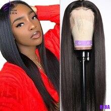 Современное шоу малазийские прямые человеческие волосы 13*4 кружевные передние парики высокие радио remy волосы Передние кружевные парики для женщин человеческие волосы парики
