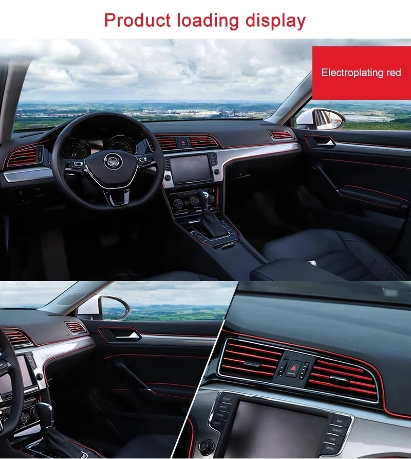 Universal Car Moulding Decoration Flexible Strips 5M/3M/1M Interior Auto Mouldings Car Cover Trim Dashboard Door Car-styling 2