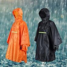 цена на Waterproof rain poncho outdoor riding multi-function Cycling Bicycle poncho 230T Titafo raincoat black / orange