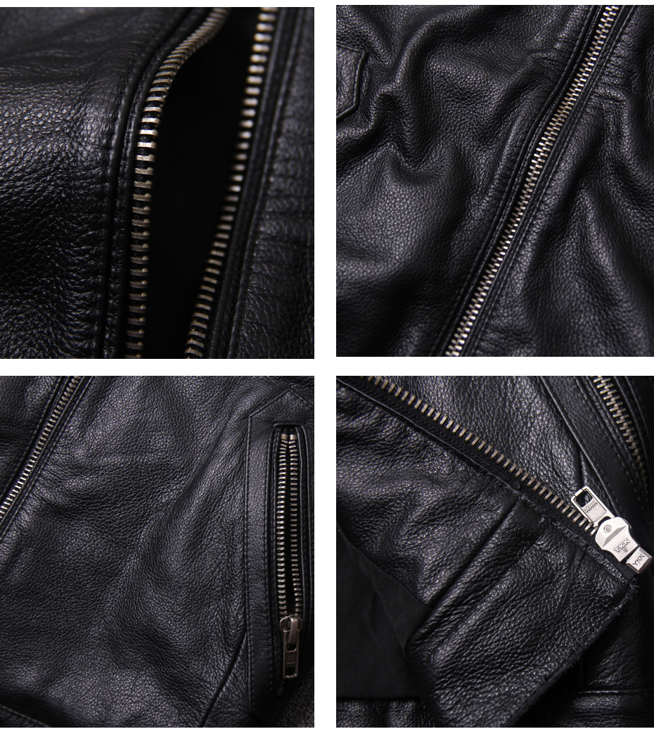 H7370888c89e0469da3437785916ce3c92 CARANFIER DHL Free Shipping Mens 100% Cowhide Genuine Leather Jacket High quality old retro motorcycle leather jacket 3XL