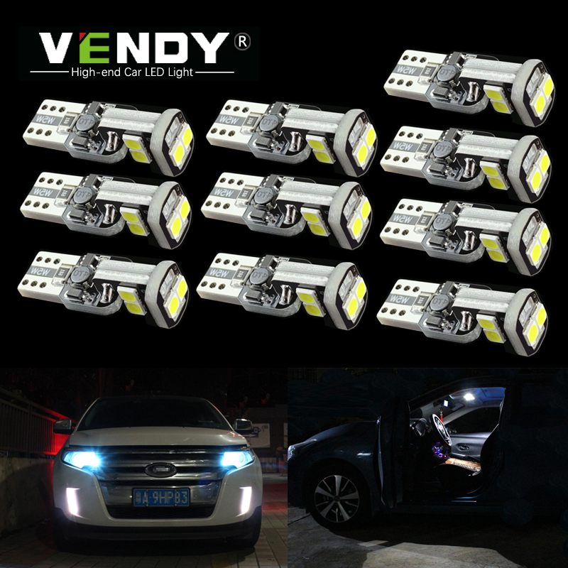 <font><b>10pcs</b></font> W5W <font><b>T10</b></font> car LED Light Lamp Bulb <font><b>Canbus</b></font> For Nissan Qashqai Tiida New Teana SYLPHY Juke Xtrail Almera NV200 Altima no error image