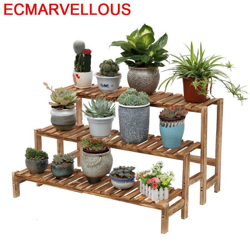 Wooden Shelves For Scaffale Porta Piante Indoor Table Estanteria Jardin Rack Balcony Shelf Outdoor Flower Dekoration Plant Stand