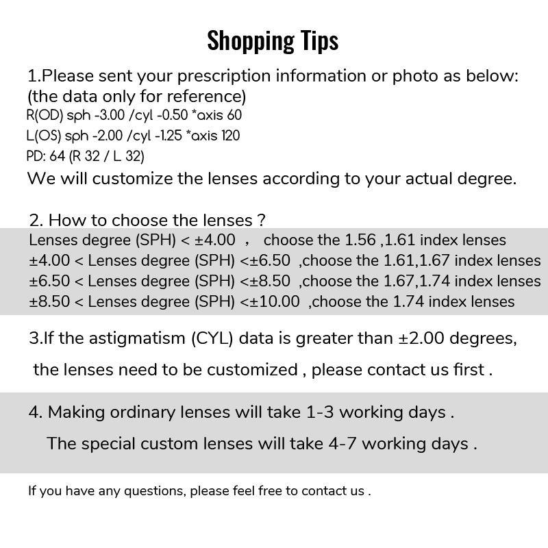 Image 4 - Toketorism Radiation protection Prescription Lenses Resin Aspheric Glasses Lenses for Myopia Hyperopia Presbyopia Diopter Lens-in Eyewear Accessories from Apparel Accessories