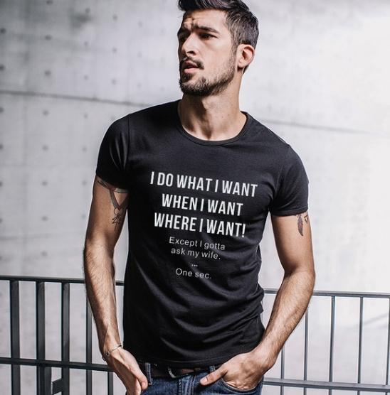 2019 Best Gift for Husband Who Loves Wife I Do What I Want Except I Gotta Ask My Wife Funny T-shirt. image