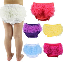 Pants Shorts Diaper-Cover Lace Bloomers Ruffle Baby-Girl 10-Colors-Optional Cotton Infant