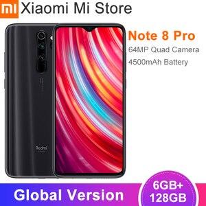 Глобальная версия смартфона Xiaomi Redmi Note 8 Pro, 6 ГБ, 128 ГБ, 64-мегапиксельная четырехъядерная камера, 6,53 дюйма, Восьмиядерный процессор Helio G90T, акку...
