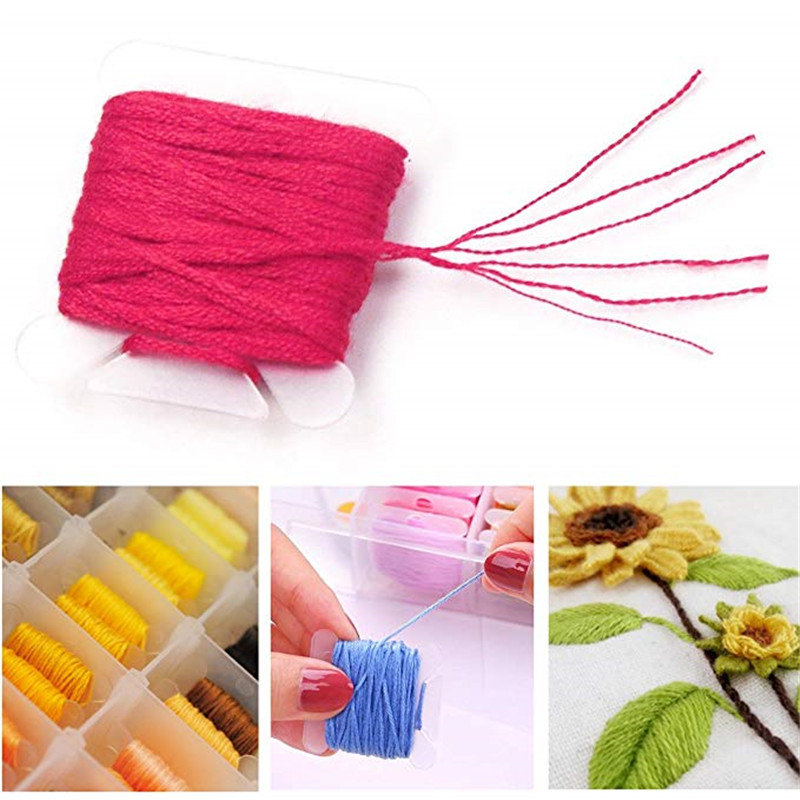 Embroidery Floss with Storage Box Mix 96 Colors Threaders With Floss Bobbins Includes 38 Pcs Sewing Accessories Kit For Beginner in Package from Home Garden