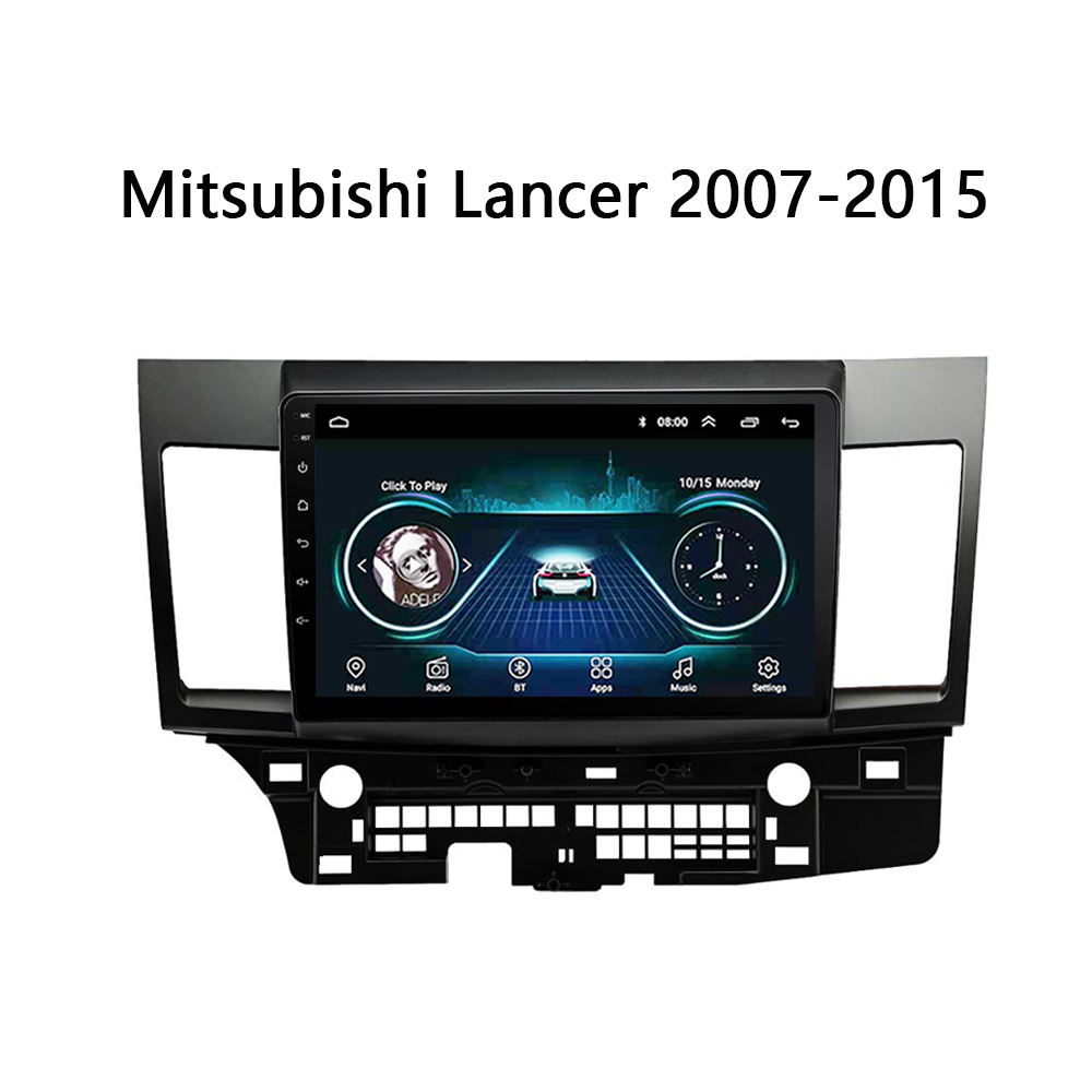 Car Monitors DVD player for mitsubishi lancer 2007-2015 multimedia radio dvd universal System Android 8.1 10 image