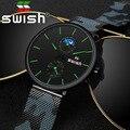 SWISH мужские часы 2019 мужские часы лучший бренд класса люкс кварцевые часы водонепроницаемые камуфляжные часы ремешок из нержавеющей стали
