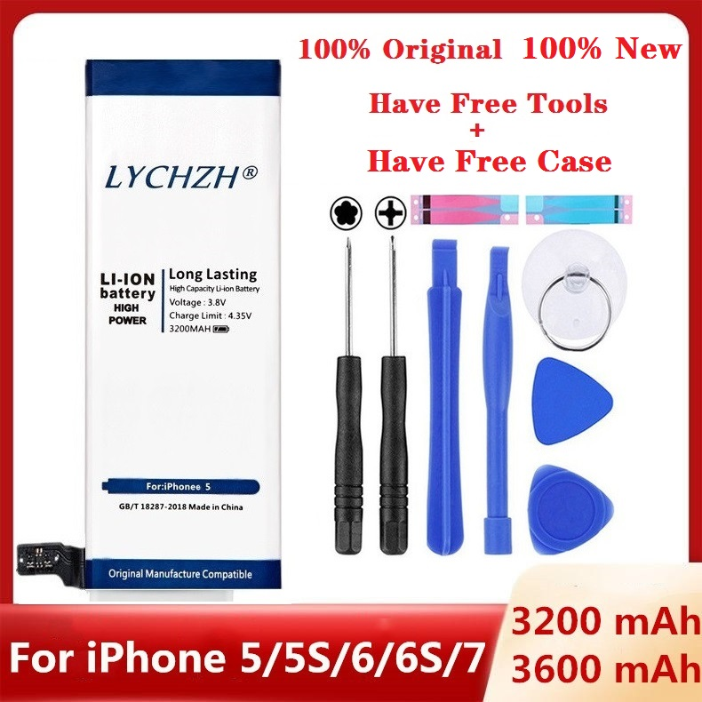 Hot Brand Original Lithium Battery For IPhone 6S 6 5 5S 7 High Real Capacity Zero Cycle Tool Gifts Case For IPhone 6S 5S Battery
