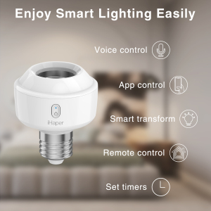 Image 1 - IHaper S1 E26/E27 Smart verlichting socket DIY Smart Home Compatibel met Apple HomeKit DIY Uw Gloeilamp Smart wifi LED socket