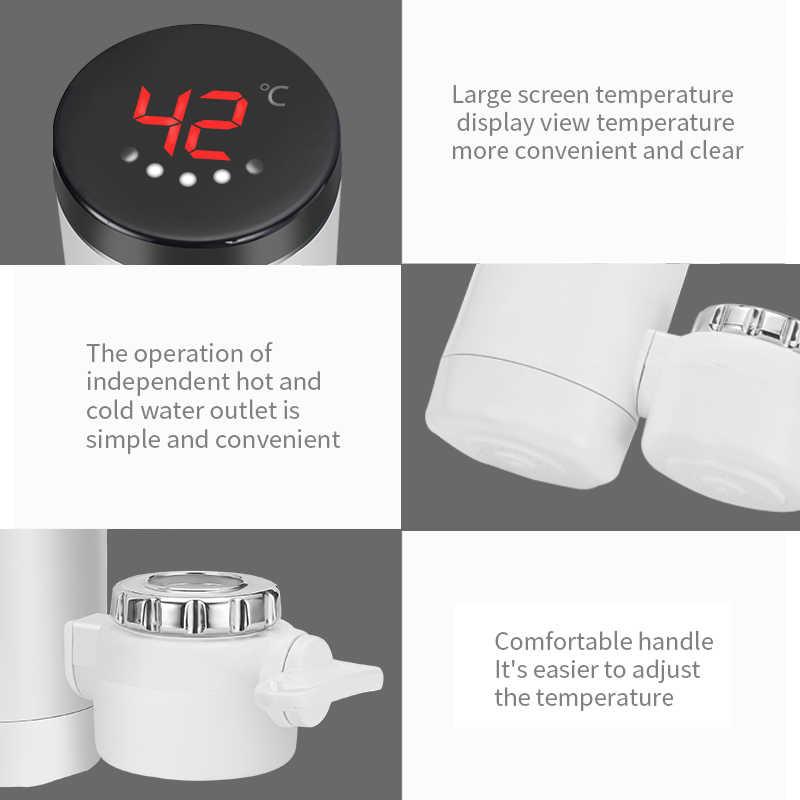 Saengqキッチン 3000 ワットの電気温水器タップインスタント温水蛇口ヒーターコールド暖房の蛇口給湯器
