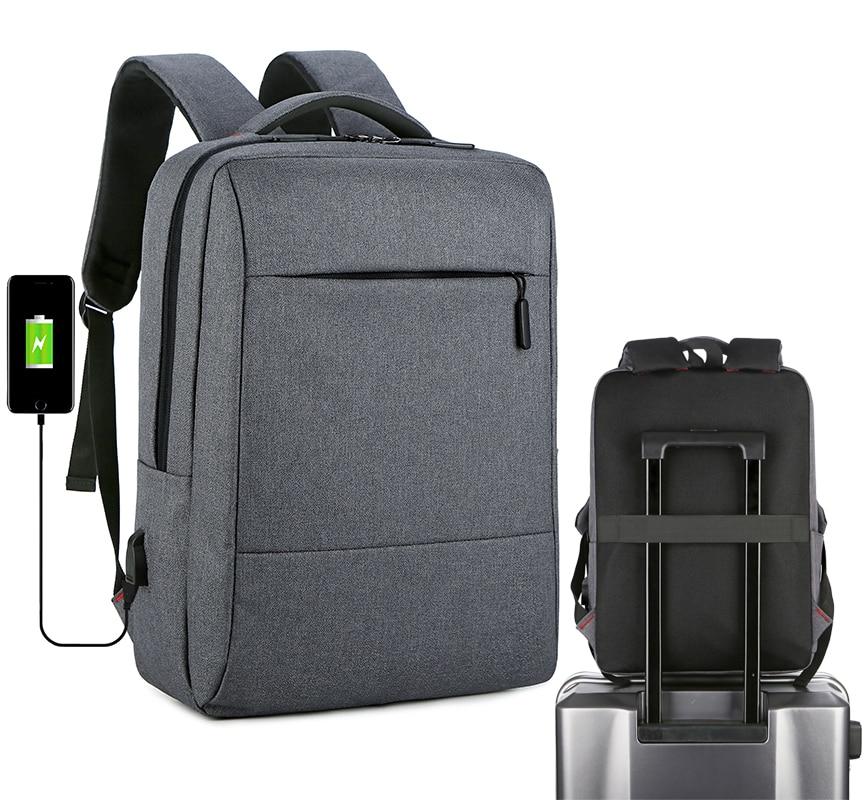 Mochila de viagem masculino poliéster portátil mochilas