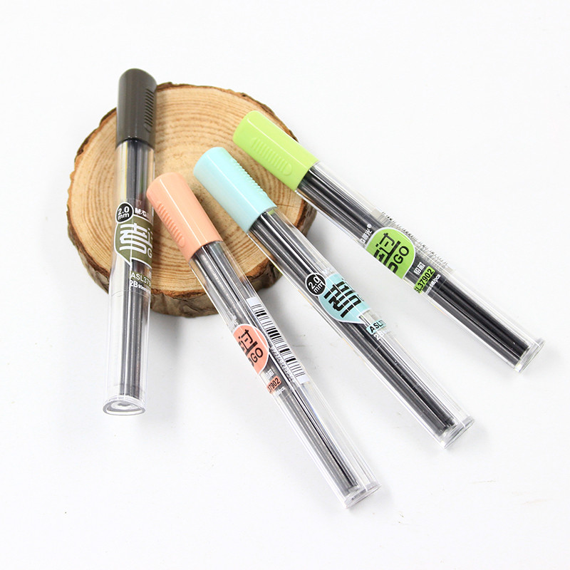 1PC Simple Mechanical Pencil Lead 2.0 Mm2B Pencil Rod Automatic Pencil Lead Refill Office School Supplies Stationery